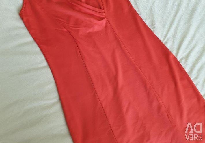 Платья красно- морковный 46+