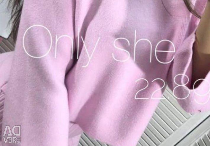 Două rochie + pulover, țesătură de cașmir + Angora, 42-46