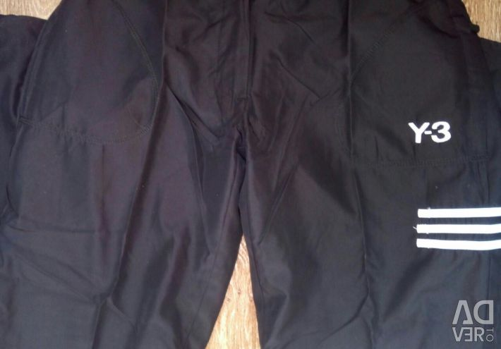 Pantaloni Y3 soții 44-46, Adidas 46-48.