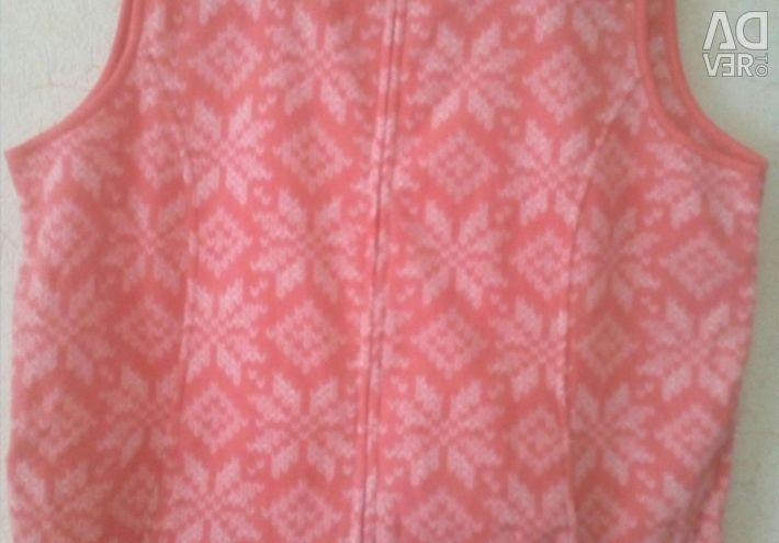 Νέο γιλέκο fleece, μέγεθος 60