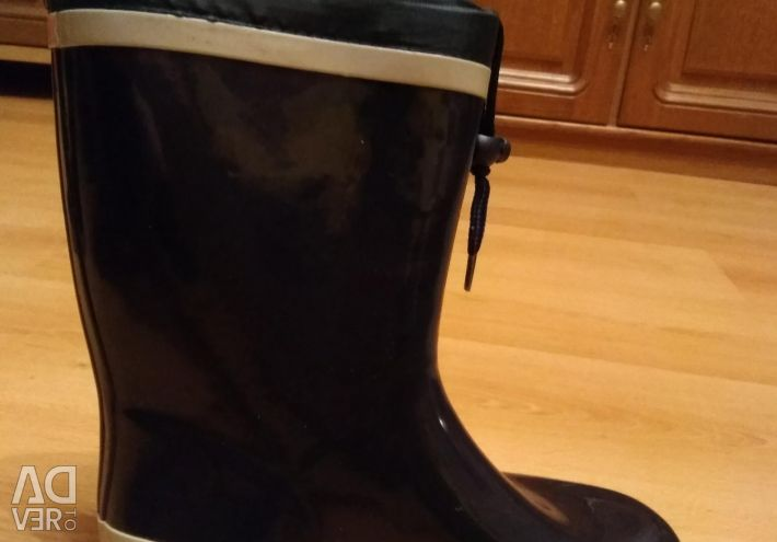 Rubber boots for the boy.