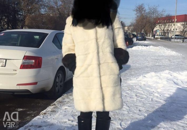 White Mink coat with sable