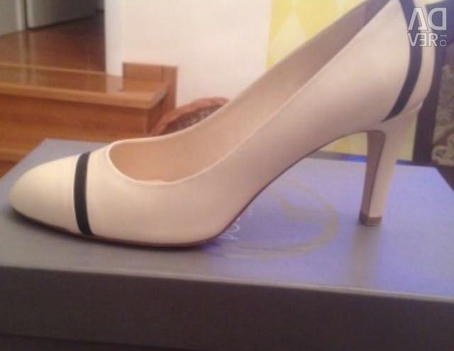 Νέα παπούτσια, δέρμα, oreginal, σ. 38, μπεζ