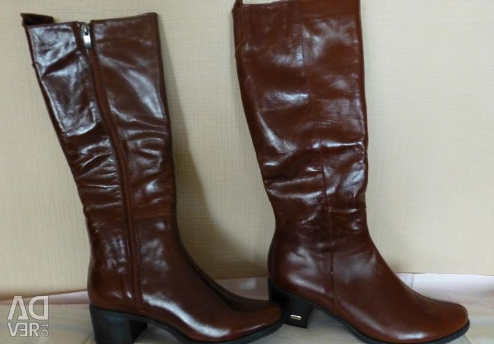 Μπότες γνήσια δέρμα demi-εποχή