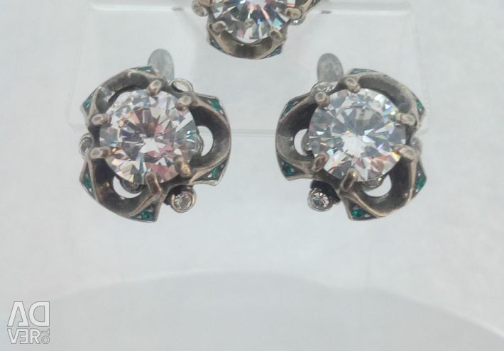 Earrings Ring Silver Plated