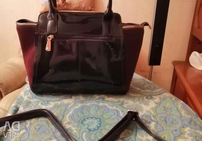 Çanta süet + vernik