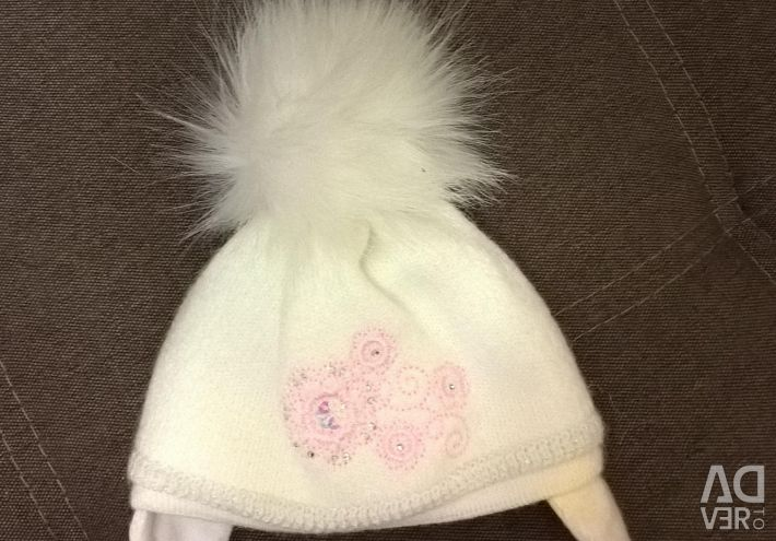 Hats for girls from 0 to 9 months