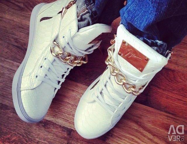 Λευκά πάνινα παπούτσια (35)