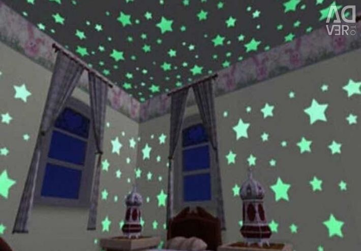 Glow stickers for ceilings