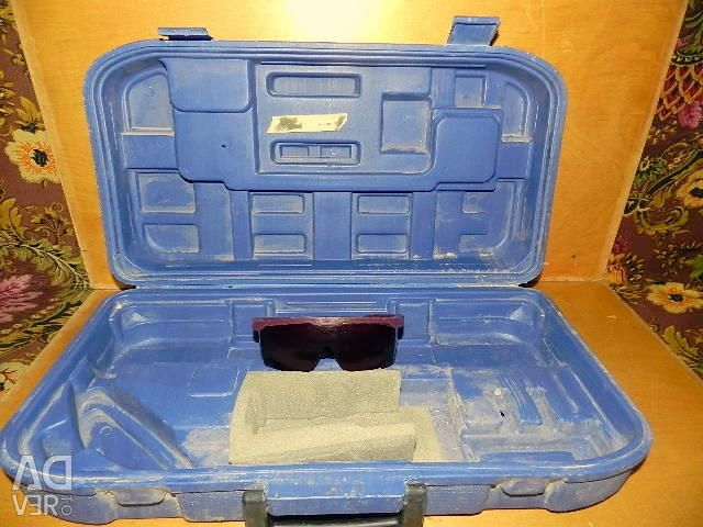 Case laser level case. With glasses