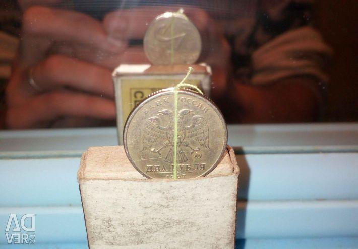 2 rubles 1997 MMD turn