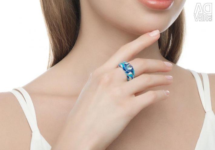 Ασημένια σκουλαρίκια Sokolov με μανίκια