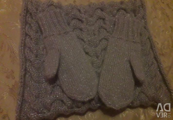 Snood and mittens