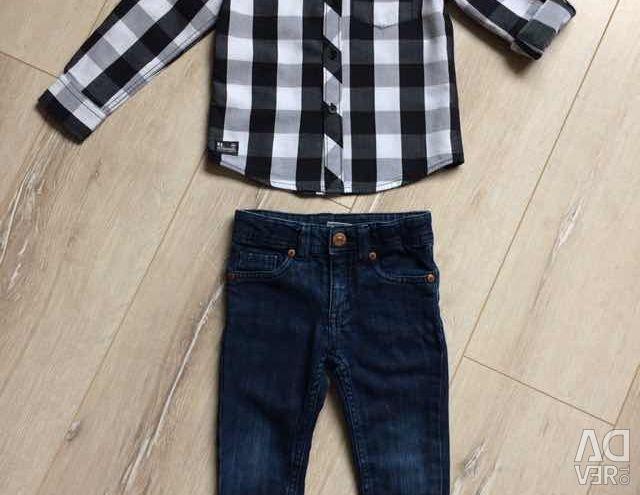 Джинсы и рубашки