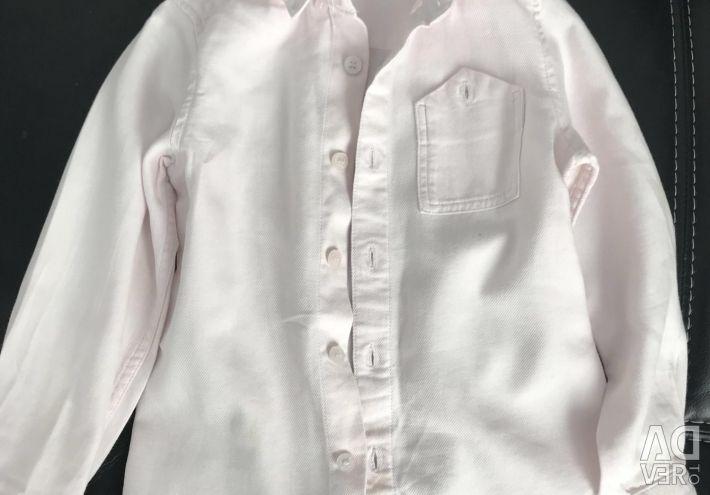 Сорочка для хлопчика блідо рожева 4-5 років