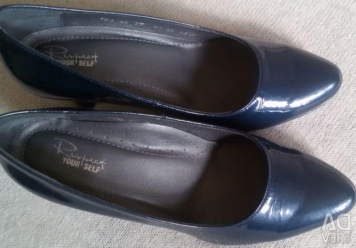 Туфли новые синие, р-37