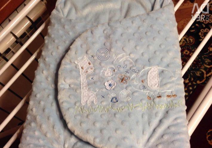 Envelope warmed for newborns