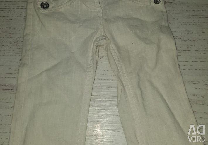 White pants / jeans 74 = 80 cm