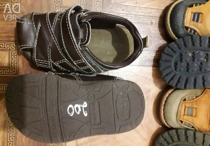 Кожаные ортопедические сандалии
