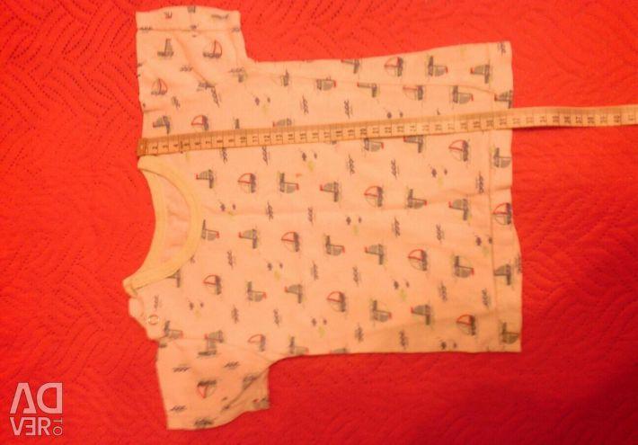 Παντελόνια και T-shirt για 6-8 μήνες, 50 ρούβλια.