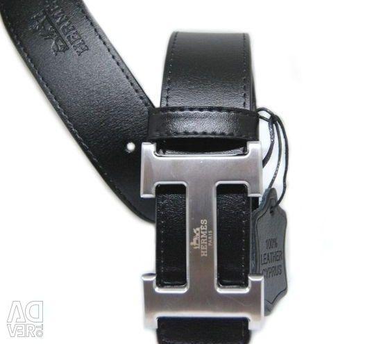 Men's belt Hermes, (genuine leather)