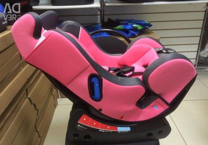 Mishutka's car seat of 0-25 kg. New. Pink