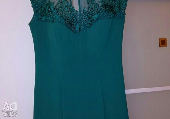 Green evening dress for 44-46 p.