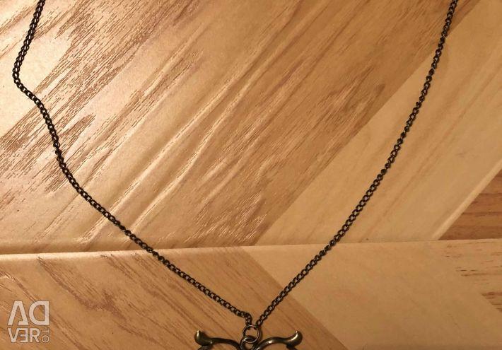 Кулон Сова с цепочкой. Винтажный стиль