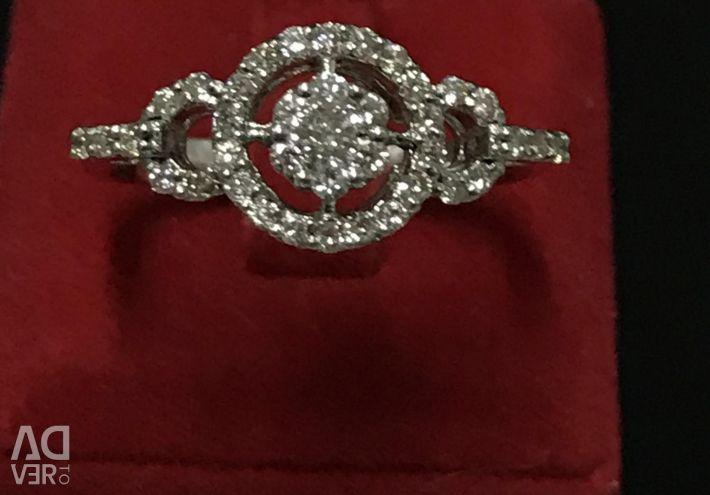 Χρυσό δαχτυλίδι με διαμάντια