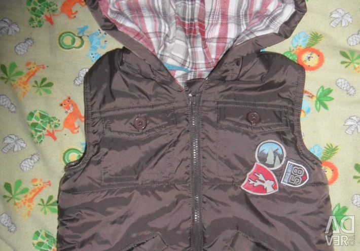 Warm vest up to a year and a half.