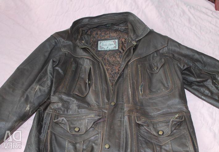 Jachetă încălzită cu piele naturală 58-60RAZ