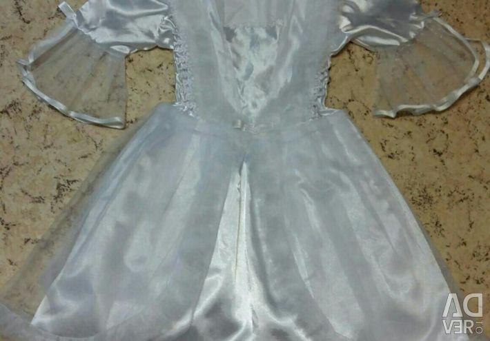 Snow-white dress for the girl