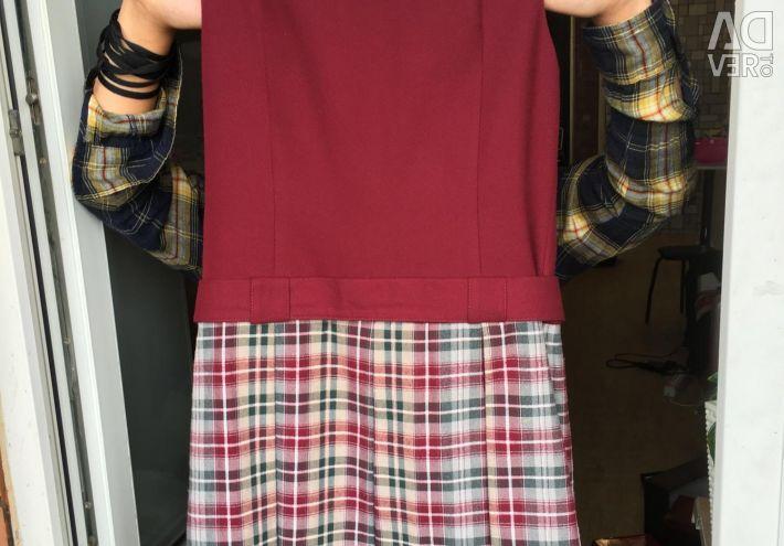 Dress, school uniform, size 152 cm