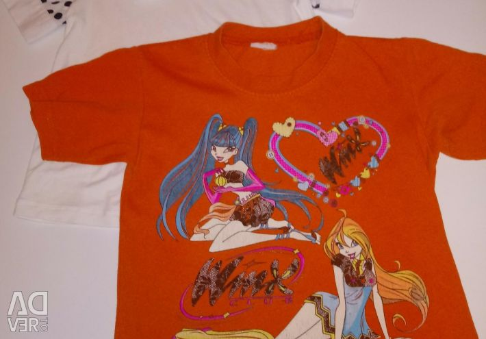 T-shirts and t-shirt for girls 5-6 years