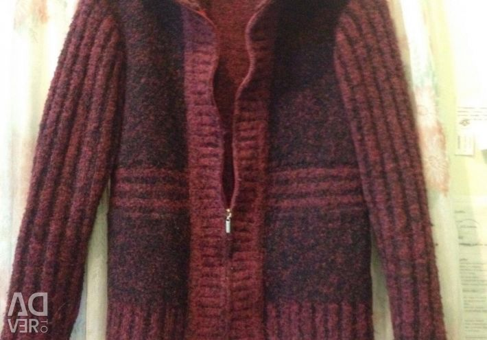 Sweatshirt with zipper wool