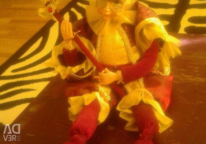 Figure Harlequin. Clockwork