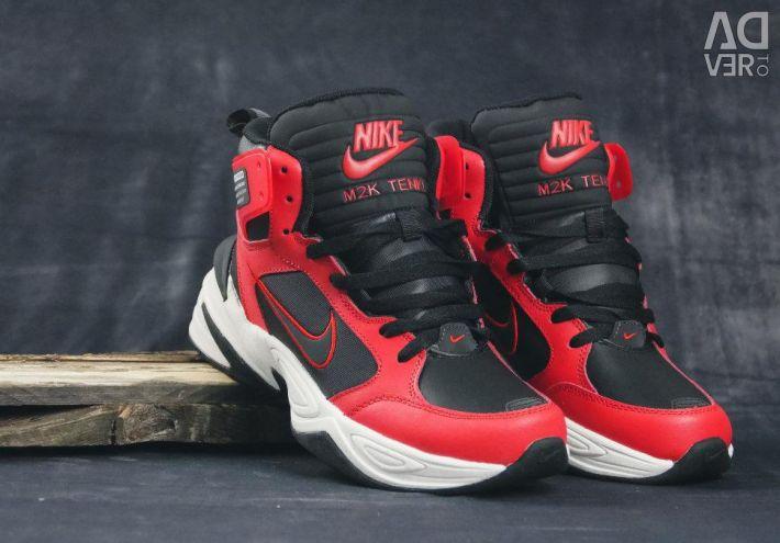 Nike M2K Tekno Mid Leather PRM Trainers