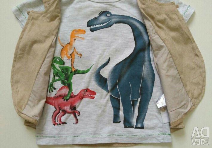 Παιδικό μπλουζάκι με ένα γιλέκο. Νέα
