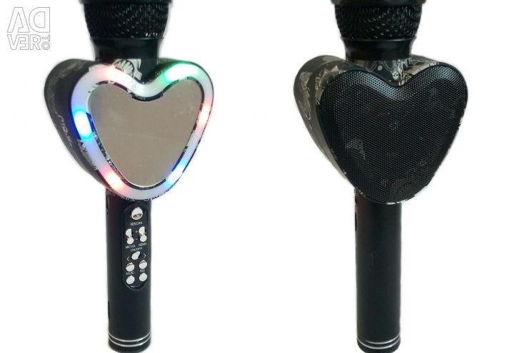 🔥 Bluetooth Mikrofon Hoparlör Aynası Q5 Siyah