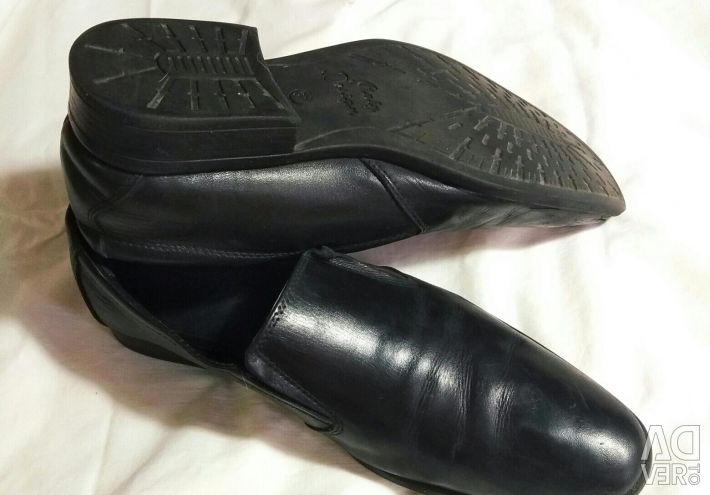 Natural leather shoes.