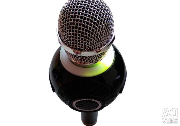 Микрофон караоке колонка Wster Ws-878 чёрный