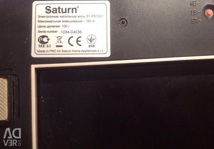Electronic balance Saturn up to 180 kg.