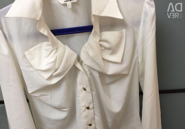 Albă bluză