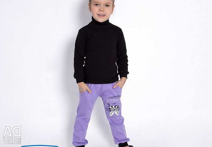 Pants with pockets for girls, 100 x / b, Russia