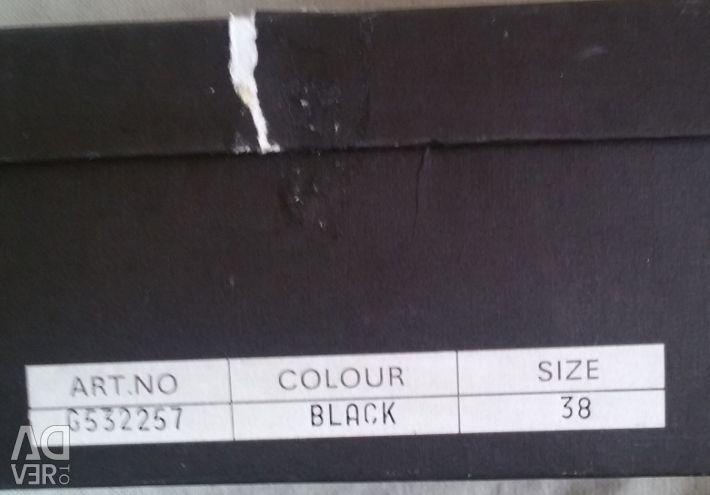 Μπότες από αστράγαλο, γνήσιο δέρμα, r-38