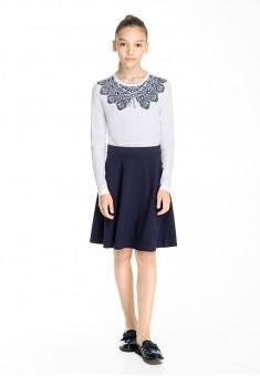 Turtleneck with openwork print for the girl, new