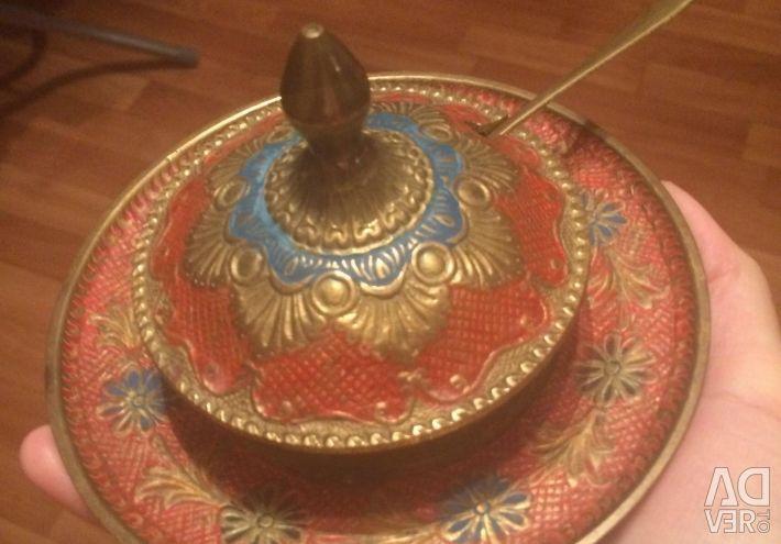 Икорница махараджа латунь ретро вінтаж Індія