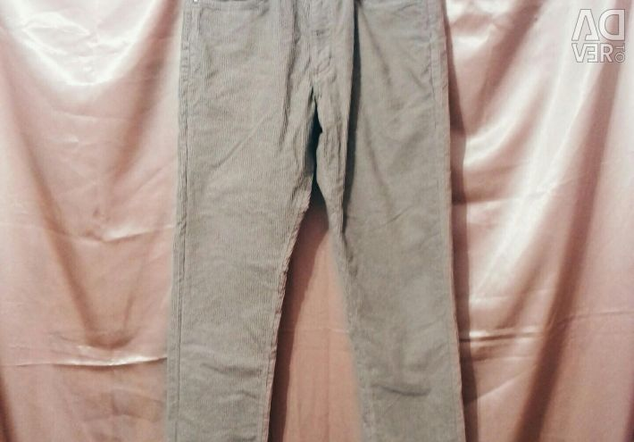 Corduroy pantaloni blugi pantaloni cald iarna