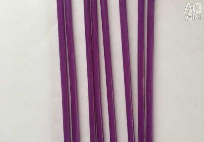 Свечи восковые фиолетовые