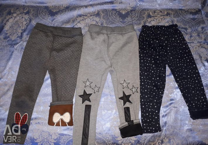 Warm pants for a girl of 3 years